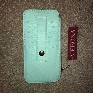 Merona Teal Green Slim Wallet